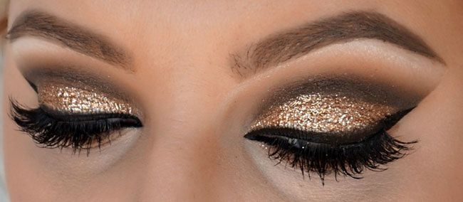 Capodanno 2017 idee make up glitter cut crease