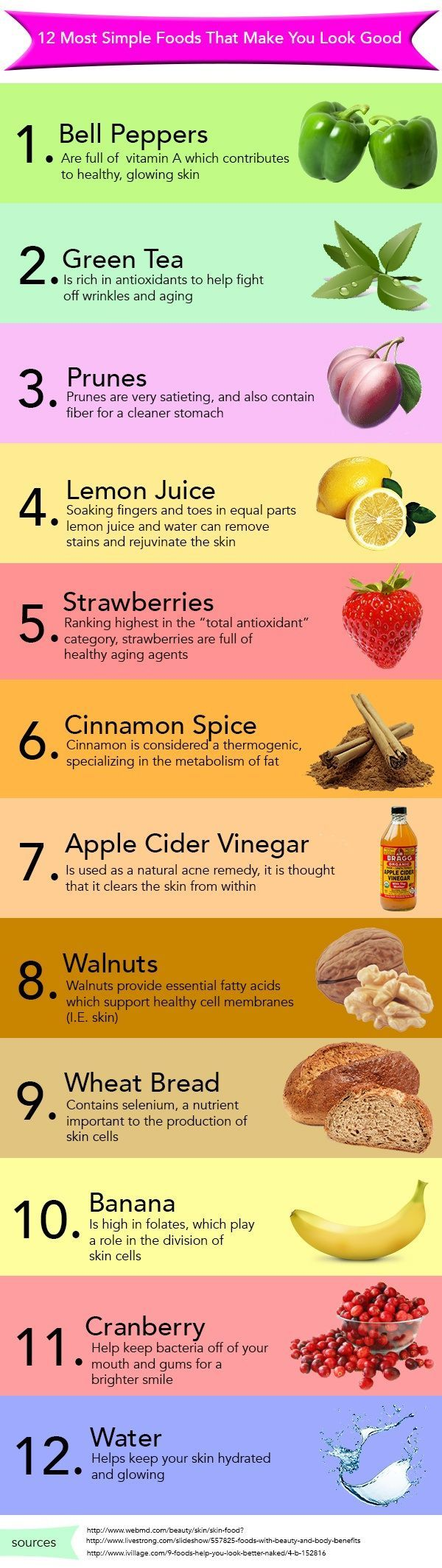 12 Most Simple Foods That Make You Look Good ♥️ #beauty #foods