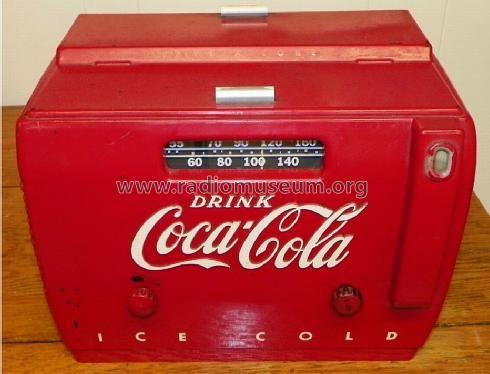 Coca Cola Coke Cooler Radio 1949