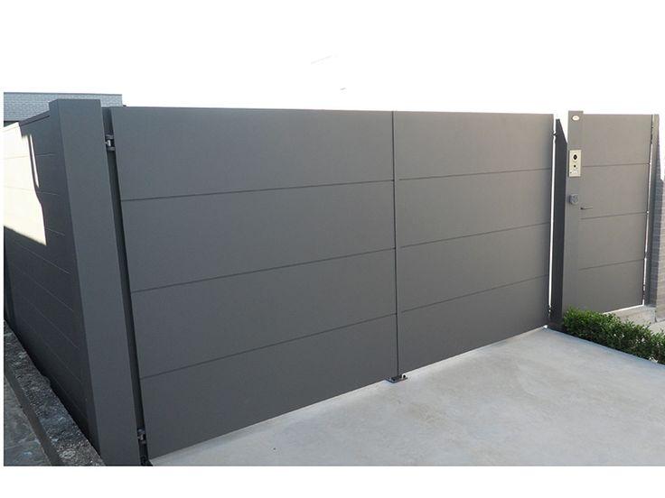 Automatische poort in aluminium Carson | Metallooks
