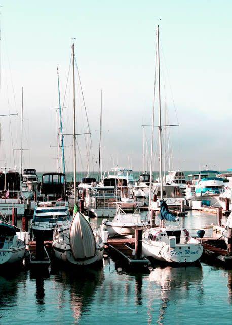 San Francisco boat marina art photography color print. $9.95, via Etsy.
