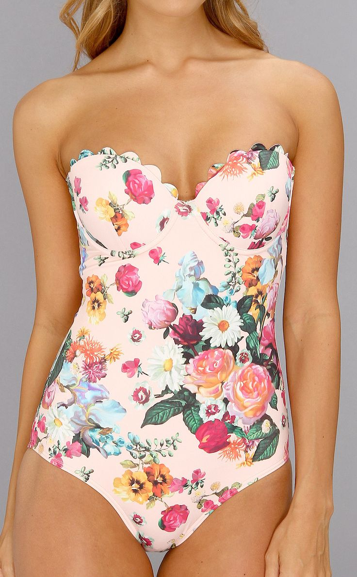 Floral maillot