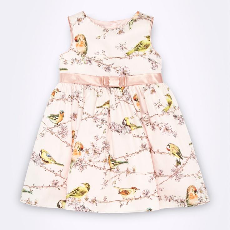 Baker by Ted Baker Designer babies pink bird patterned dress- at Debenhams.com