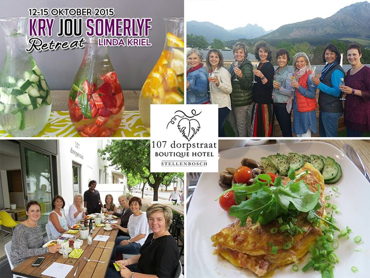 """KRY DAAI LYF met Linda Kriel held her annual """"Kry jou Somerlyf Retreat"""" at our Hotel last week.   7 Ladies had the opportunity to learn more about the Banting lifestyle and diet, as well as exercise. They stayed in our exclusive modern luxury bedrooms."""