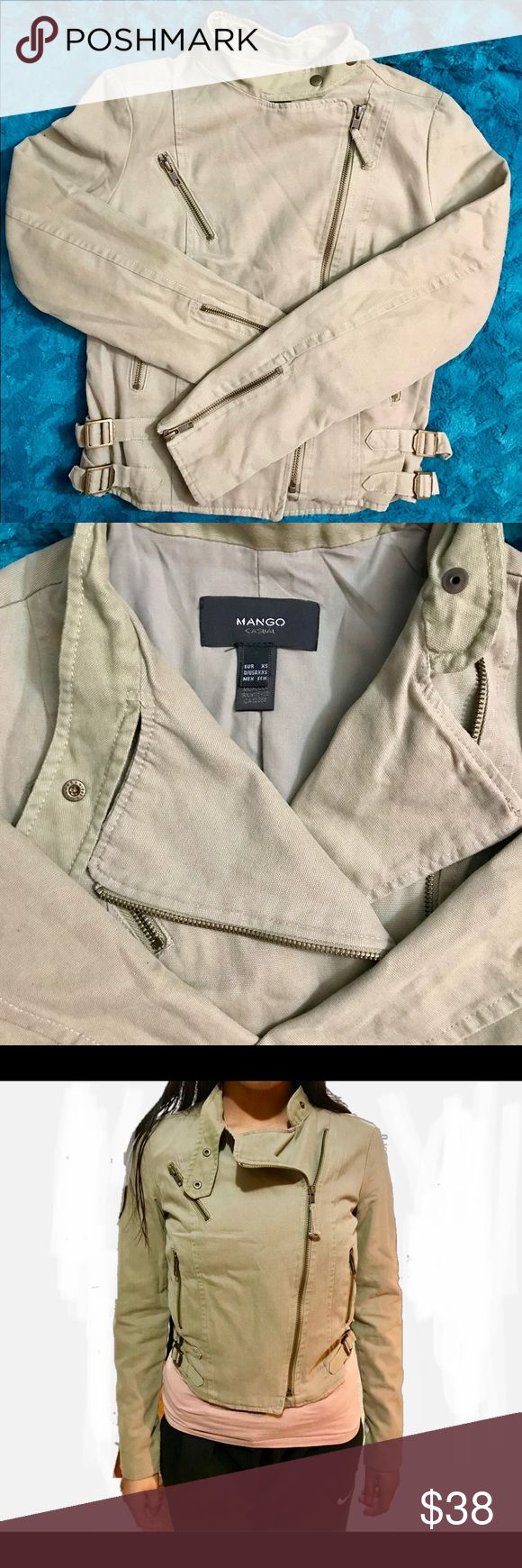 Mango jacket Worn a few times, great condition. EUR sz XS, US sz XXS. My girl has outgrown it. Coming from a pet/smoke free home. Mango Jackets & Coats Utility Jackets