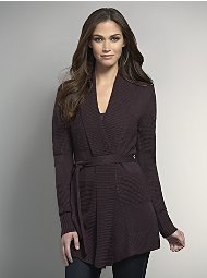 Triple Texture Belted Cardigan