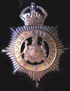 British Police online Museum - Bradford City/Bradford Helmet Plate KC
