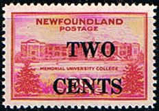 Newfoundland 1946 University Overprint Fine Mint SG 292 Scott 268 Other North American and British Commonwealth Stamps HERE!
