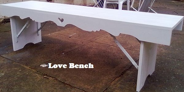 White Wooden Fold Up Bench
