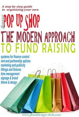 Organise your own pop up shop for your craft work as the modern approach to fundraising and retail