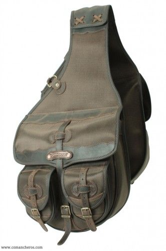 Large  Western saddle bag with 4 pockets made from Cordura STC and Leather