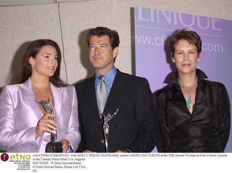 Actor PIERCE BROSNAN Wife KEELY SHAYE SMITH Left Actress JAMIE LEE CURTIS
