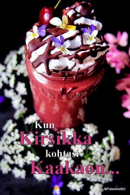 Kirsikka-suklaapirtelö | paleokeittio.fi