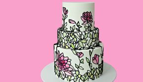 I would love to make this!! Stained Glass Cake