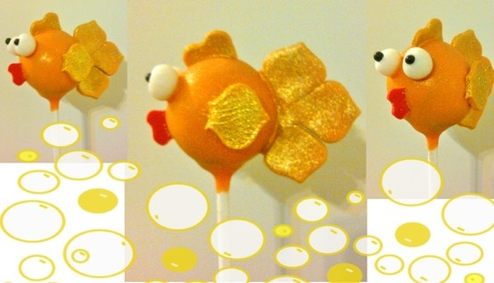 Goldfish Cake Pops @Tiffany Jackson - i like these ones more! just found em! but doesn't need to be so extreme on the tail :)