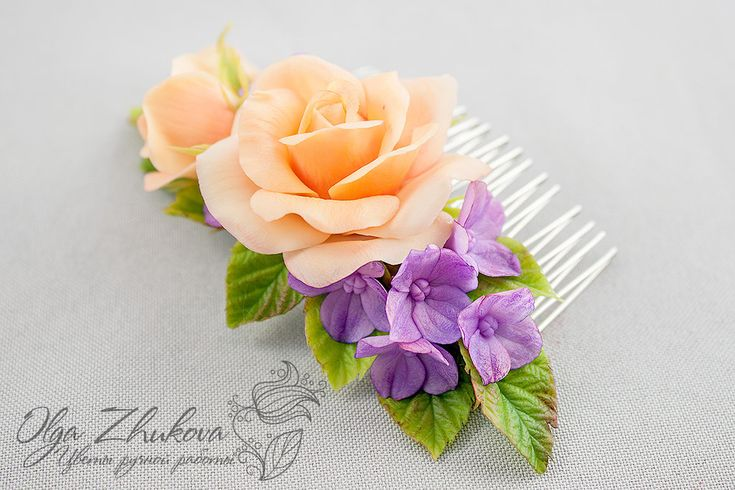 Comb hair with flowers by polyflowers on DeviantArt