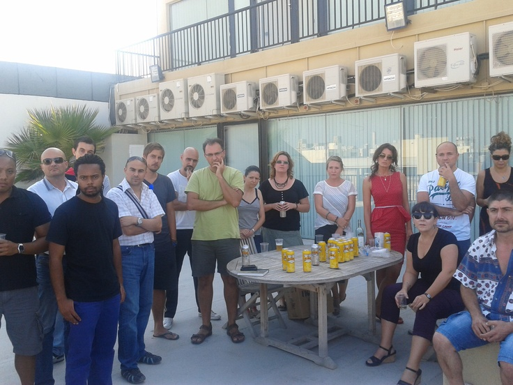 Our team enjoying some cold beer on the roof after work.Cold Beer, Team Enjoy, Intercasino Events