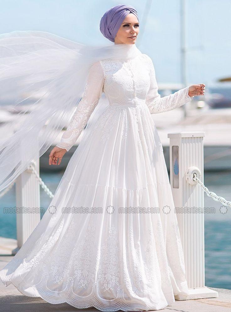 cotton Dress - Ecru - Muslima Wear