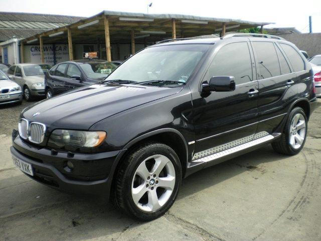 used bmw x5 2003 diesel sport 5dr auto 4x4 black. Black Bedroom Furniture Sets. Home Design Ideas
