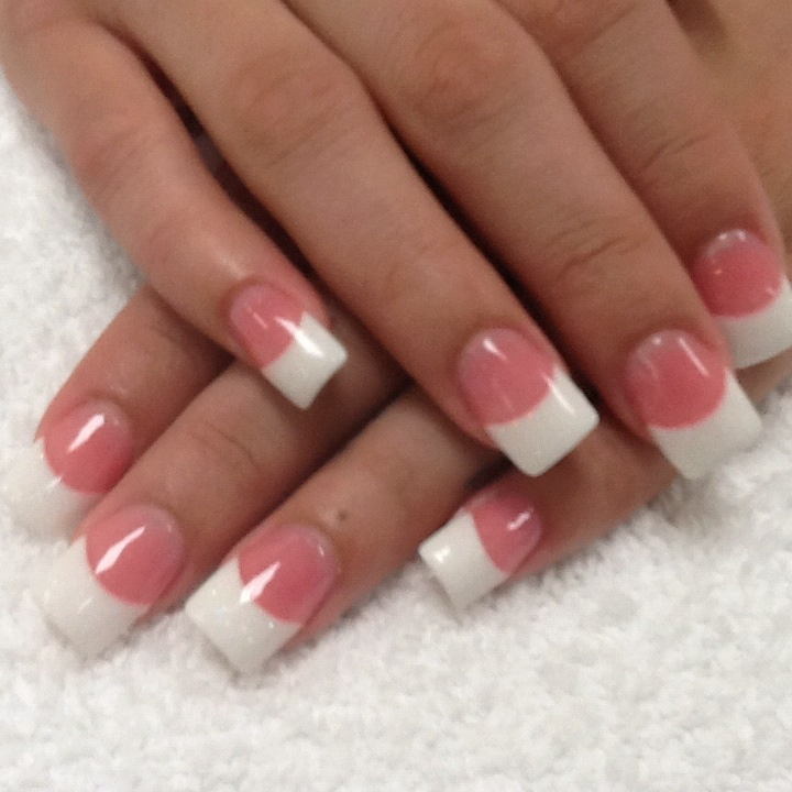 Powder Nail Polish Near Me: Pink And White Glitter Powder