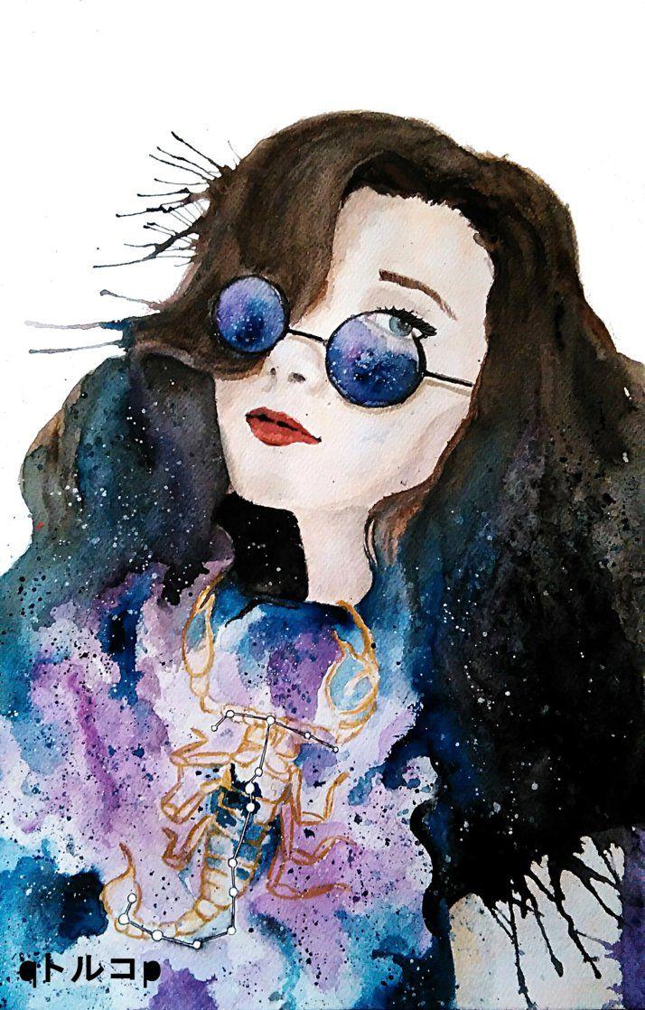 Gimitri by qTORUKOp on DeviantArt #gimitri #watercolor #galaxy #arts #scorpio #toruko_chan #qtorukop #qトルコp