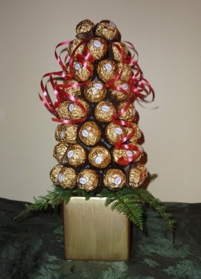 how to make a ferrerorocher topiary