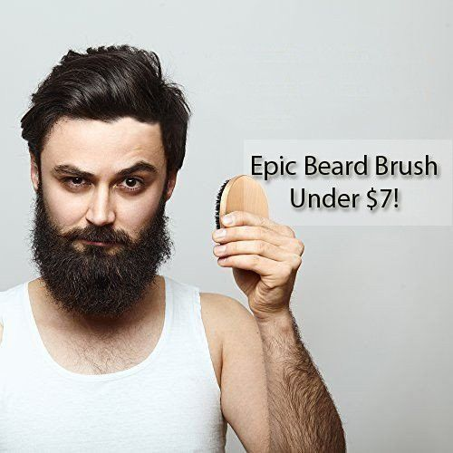 Epic Boar Bristle Beard Brush Round Wood Handle