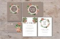 свадебные приглашения Boho, свадебные приглашения шаблон, свадебные приглашения для печати, Цветочные свадебные приглашения Набор, приглашения Люкс, PDF
