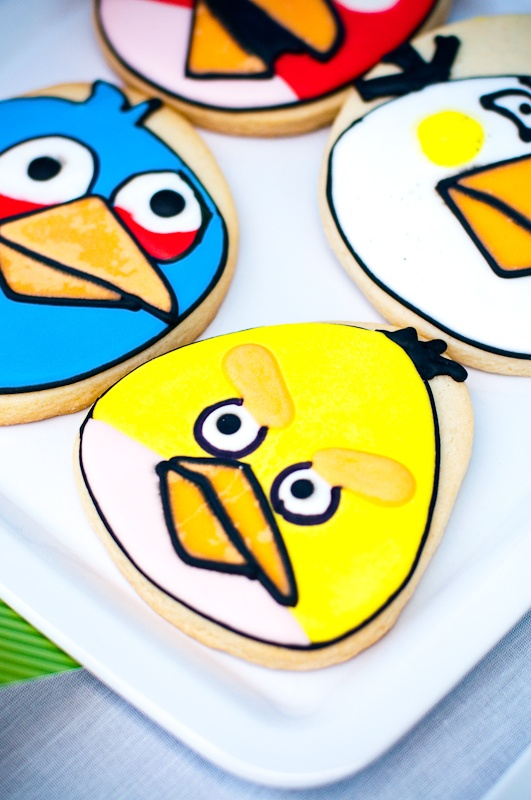 Angry birds party cookies! Kara's Party Ideas | KarasPartyIdeas.com