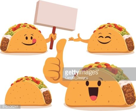 Vector Art : Taco Cartoon Set C