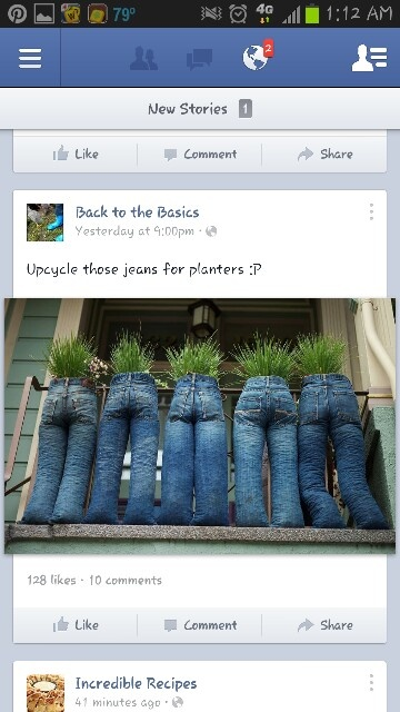 Upcycle jeans for planters
