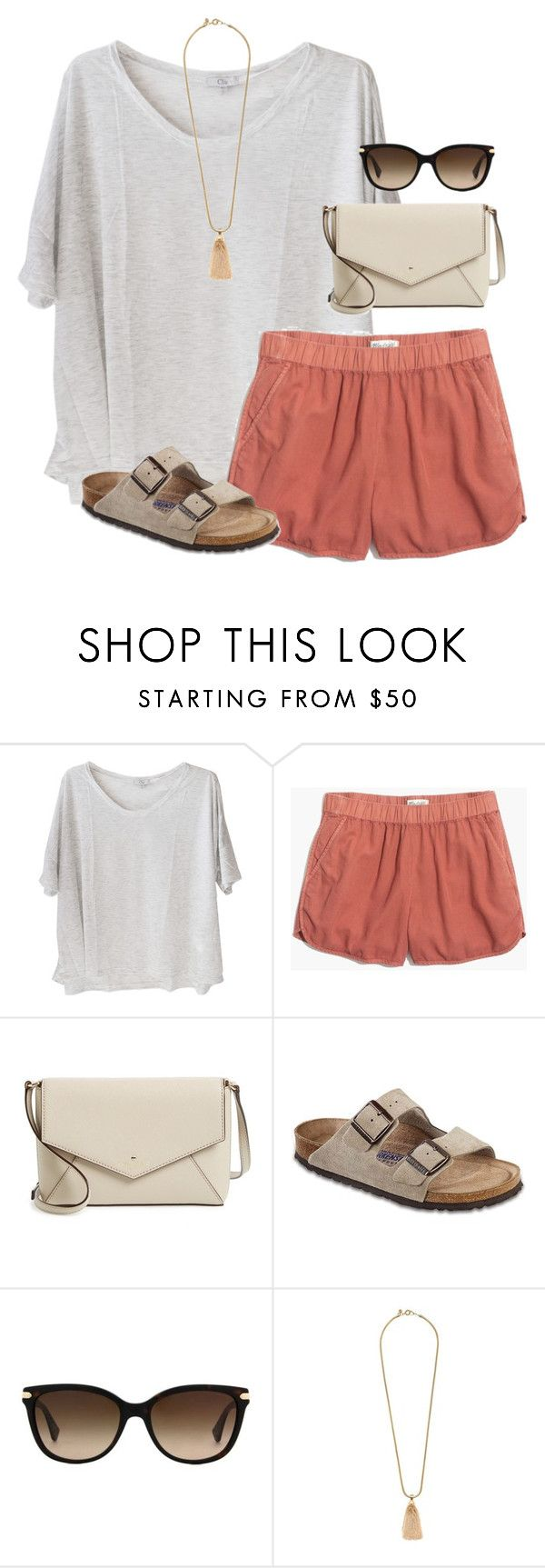 """""""mismatch"""" by tessorastefan ❤ liked on Polyvore featuring Clu, Madewell, Kate Spade, Birkenstock, Coach and J.Crew"""