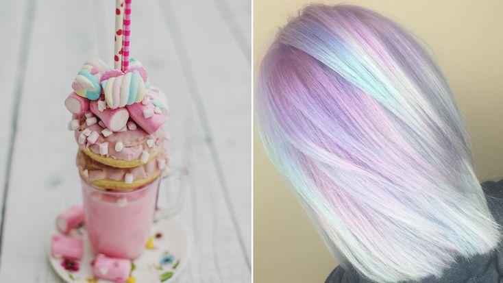 """Pastel Milkshake Hair"" Is the Delicious New Rainbow Hair-Color Trend on Instagram"