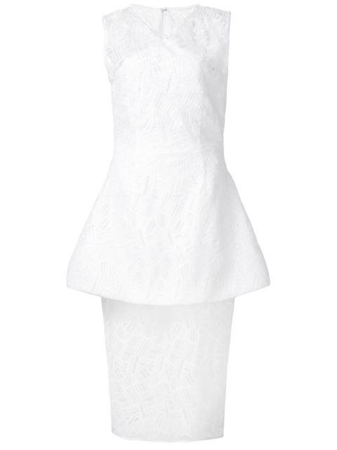 Shop Christian Siriano peplum waist dress.