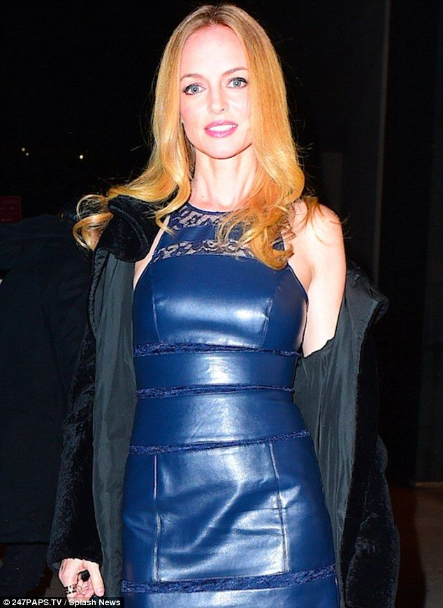 Heather Graham, 45, showcases slim figure in black and ...