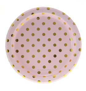 Think about making your own, clear plate, metallic dots and spray paint.