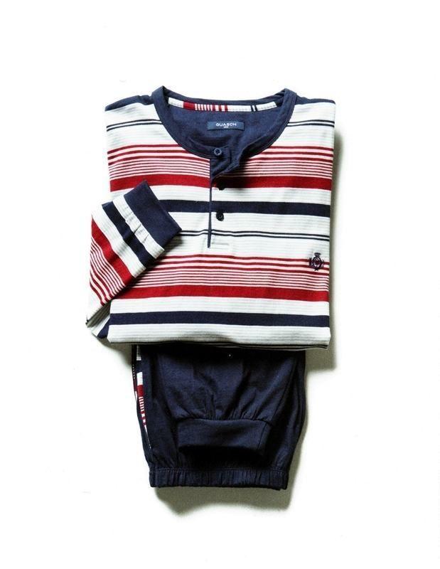 Pijamas Guasch de invierno para hombre - GP181D366 - Esquijama en punto de algodón, más bien fino, para usar todo el año. #modaHombre #moda regalos http://www.varelaintimo.com/marca/9/guash