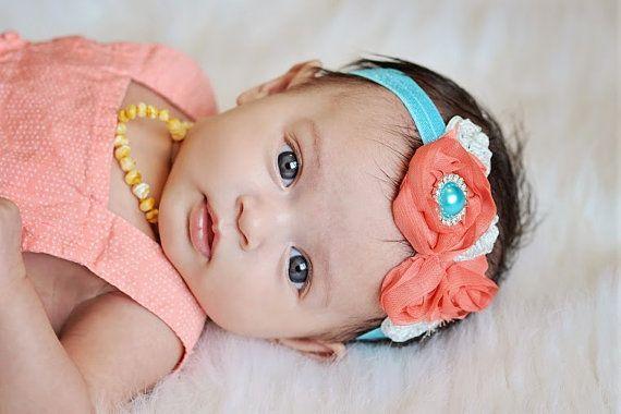 Newborn Baby Girl Headband Accessories by Beauttyandthebow on Etsy, $6.95