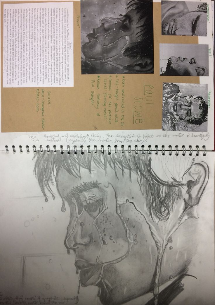 Hilary, interpretation of an artists work for the A level 'Personal Invesrigarion' project.' St Marys Catholic High School.