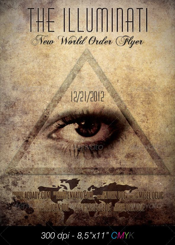 Illuminati Film Poster — Photoshop PSD #elegant #print • Available here → https://graphicriver.net/item/illuminati-film-poster/898745?ref=pxcr