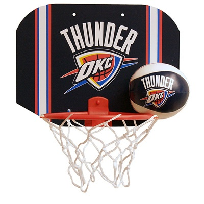 Get In A Game Of Hoops In Your Bedroom, Office, Or Dorm Room With The  Licensed Products NBA Oklahoma City Thunder Softee Hoop Set.