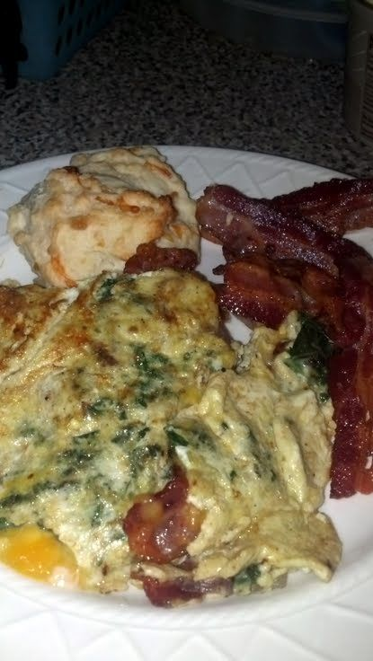 Green Eggs & Ham (Kale & Bacon Omelette)! 5.00 stars, 1 reviews. &quo...