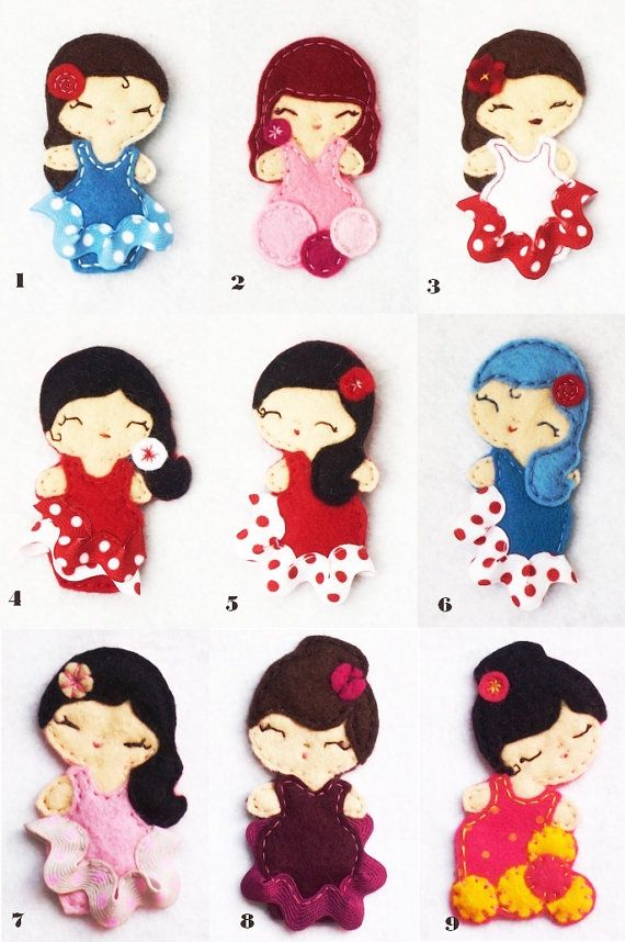 Felt dolls – Seen on Pintrest, loved and repined by Craft-seller.com