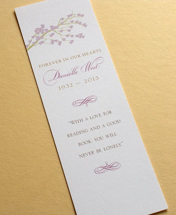 8 best funeral program images on Pinterest Memorial ideas - funeral reception invitation