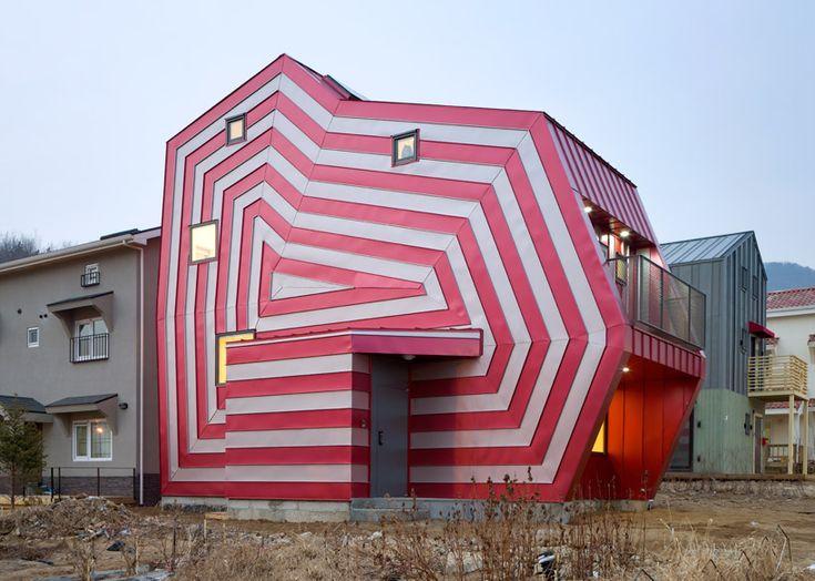 'lollipop house' by moon hoon, giheung-gu, korea