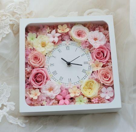 花時計2種 丸と四角があります 町の踊り 田舎の踊り : 一会 ウエディングの花