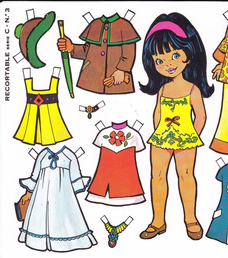 Cosas para compartir: Muñecas de papel