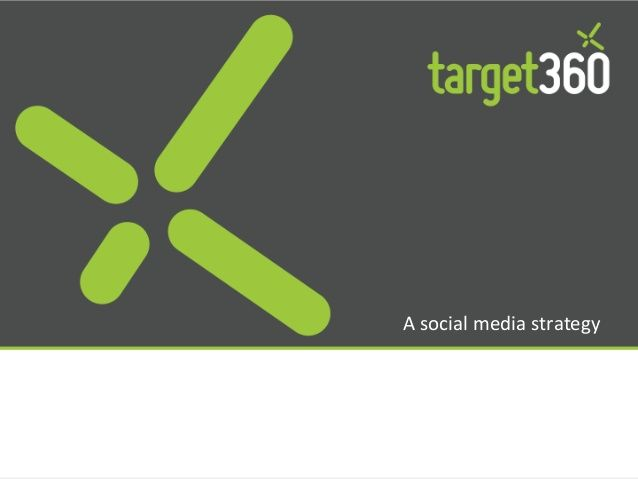 Social media marketing strategy template by target360 Integrated Marketing Automation and Sales CRM via slideshare