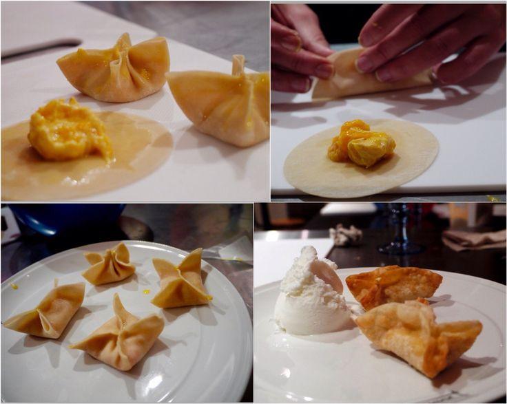 Wonton de mango.