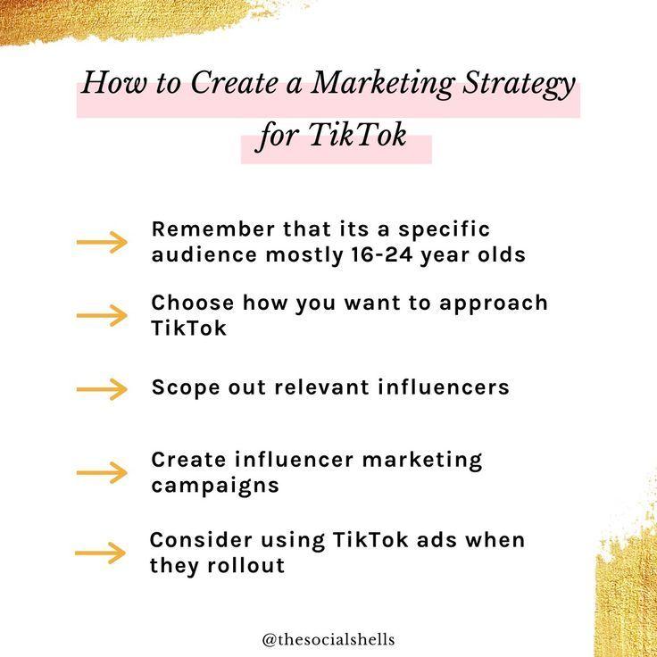 Tiktok Strategy Social Media Marketing Business Blogging Basics Social Media Infographic